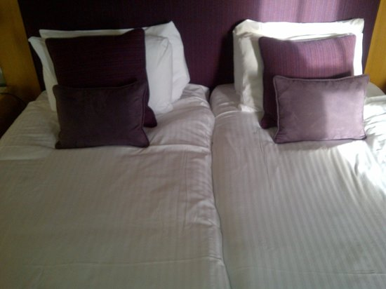"""Crieff Hydro Hotel and Resort:                   the """"double"""" bed (2 singles pushed together)"""