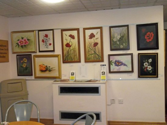 Guildhall Arts Centre:                                     Local artwork display in the Coffee Shop