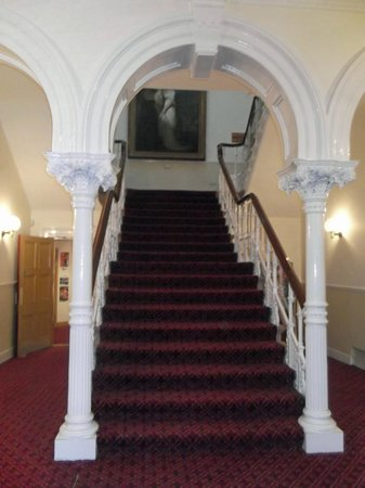 Guildhall Arts Centre:                                     Grand staircase up to the Ballroom