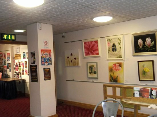 Guildhall Arts Centre:                                     Display of local artwork for sale in the Coffee Shop