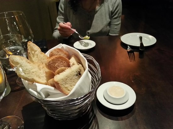 Aura Restaurant:                                     The bread and herby butter are worth it alone