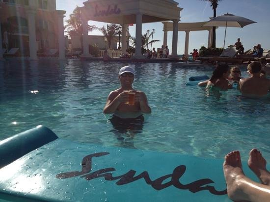 Sandals Royal Bahamian Spa Resort & Offshore Island:                                     pool was cold, but so was the beer.