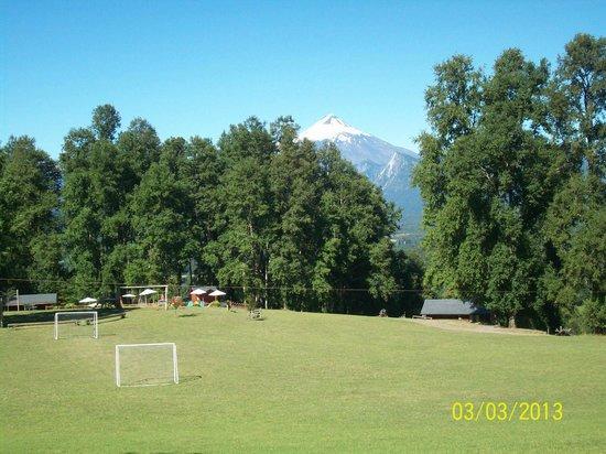 Mirador los Volcanes:                   El volcan Villarrica