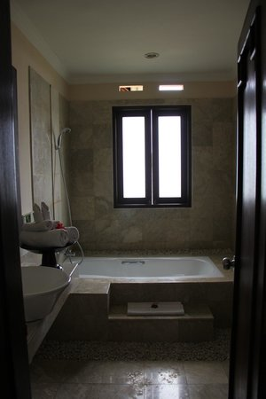 Bebek Tepi Sawah Villas & Spa:                   our wonderful bathroom
