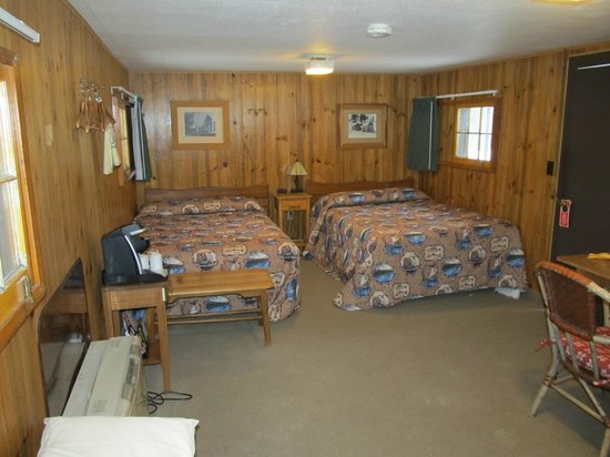 Old Faithful Snow Lodge and Cabins:                   Frontier Cabin double beds