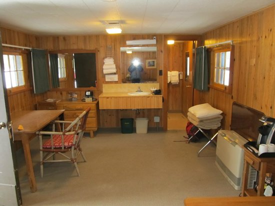 Old Faithful Snow Lodge and Cabins :                   Frontier Cabin interior