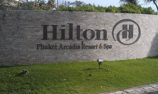 Hilton Phuket Arcadia Resort & Spa:                   Hilton Sign