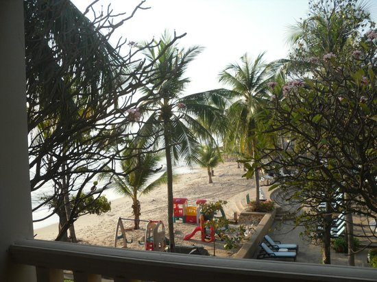 Dusit Thani Hua Hin:                   View of the beach from our room