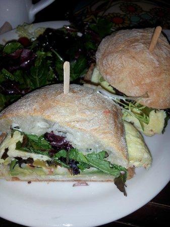 Urth Caffe:                   egg omelette sandwich