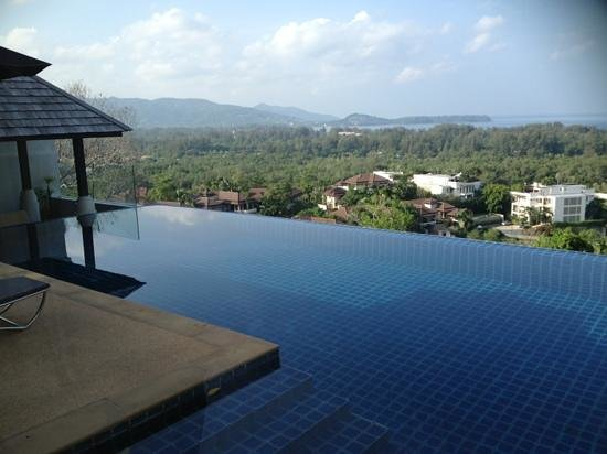 The Pavilions Phuket:                   Private pool overlooking hills and ocean