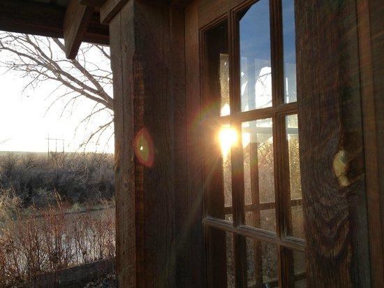 Silver River Adobe Inn:                   Late winter sunset
