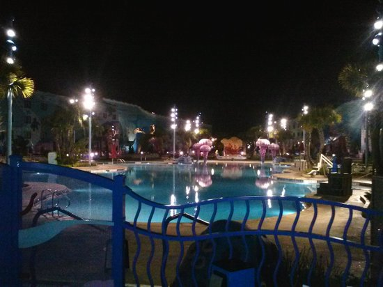 Disney's Art of Animation Resort:                                     pool at night