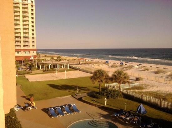 Hampton Inn Pensacola Beach: View from our balcony.
