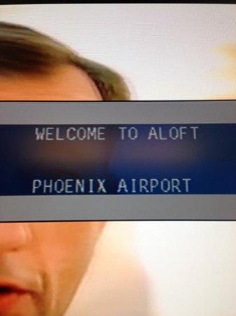 Aloft Phoenix-Airport: tv welcome