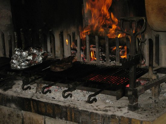 La Garaudière :                   The grill, great feature of the restaurant