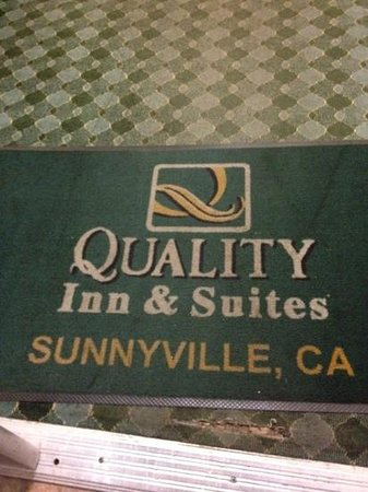 Quality Inn & Suites Sunnyvale/Silicon Valley: funny typo on the mat