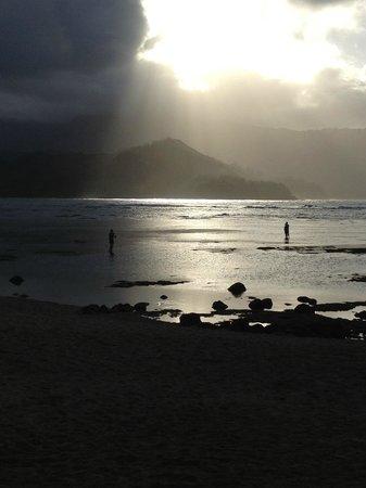 St. Regis Princeville Resort:                                     Sunset at Beach