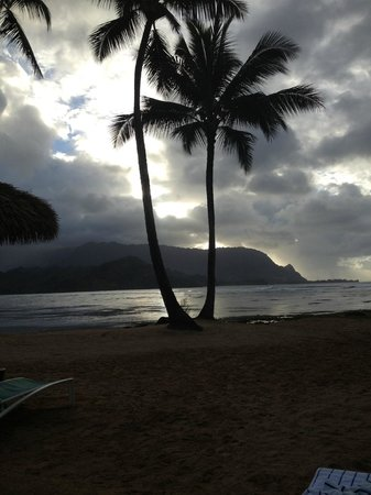 St. Regis Princeville Resort:                                     Sunset at Beach
