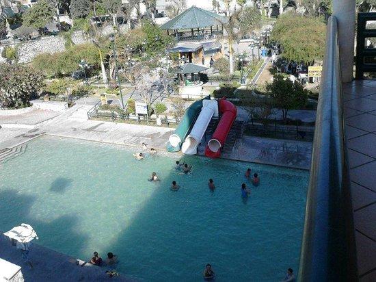Balneario Baño Grande En Hidalgo:Balneario Banos Amajac: Alberca y plaza principal
