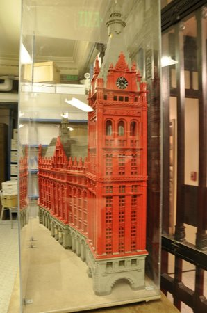 Milwaukee County Historical Society:                   A Lego courthouse building