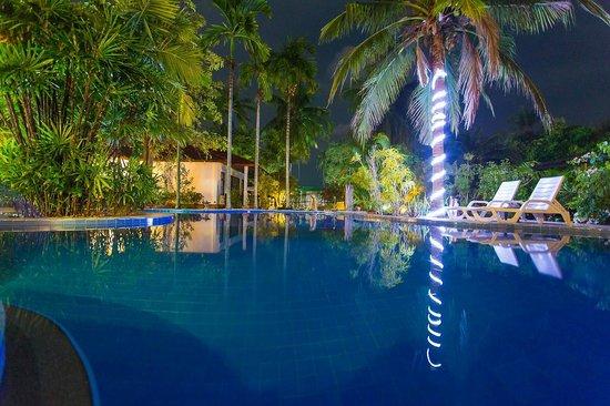 Majestic :                   Pool at Night