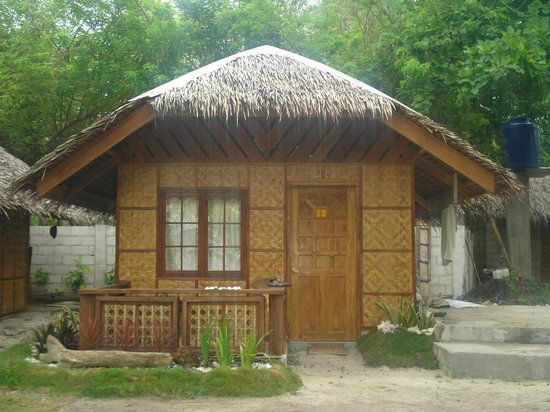 Bahay kubo picture of whites greens beach resort for Nipa hut interior designs