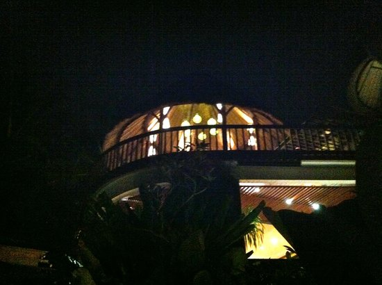 Ubud Green:                   The restaurant at night