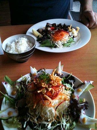 Banzai:                   Octopus Salad & Teriyaki Beef