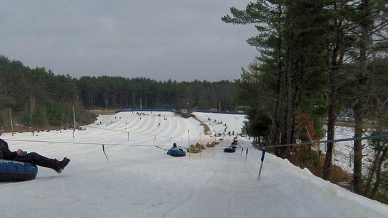 Westford, MA:                   Lift ride up the Tubing Hill