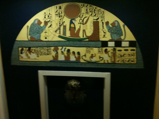 Brussels Welcome Hotel:                   Egypt room door