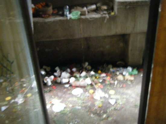 Hotel Ok International :                   Rubbish and filth from side entrance into lobby
