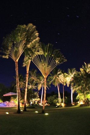 Villas de Trancoso Hotel:                   Gardens at night