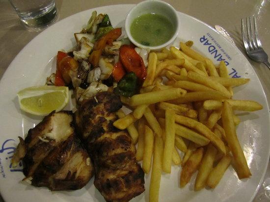 Al Bandar Fish Market:                   Grilled Hamour