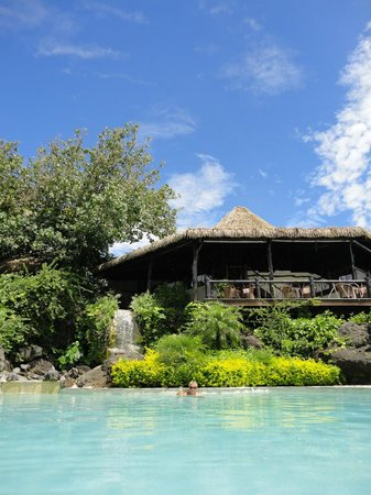 Pacific Resort Aitutaki:                                     The Restaurant viewed from the pool area