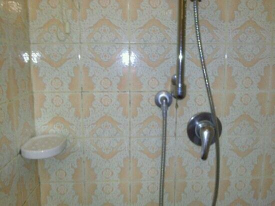 Villa Fiorita:                                                       doccia con evidenti macchie di muffa nelle