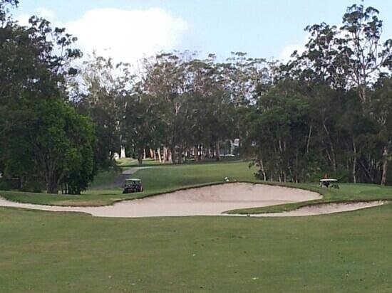 Tewantin-Noosa Golf Club:                                     The 17th - fairway bunkers! Nice course, clubhouse and local