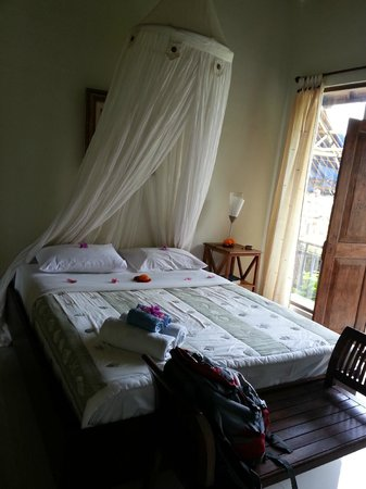 Gusde House & Villa:                   The bed, mosquito net and fresh towels