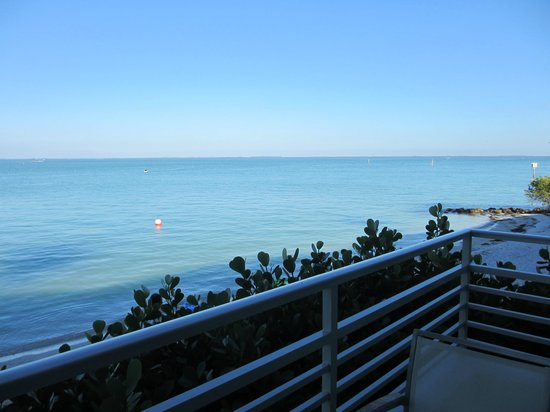South Seas Island Resort:                   View of the Gulf to the right standing on the balcony.                 