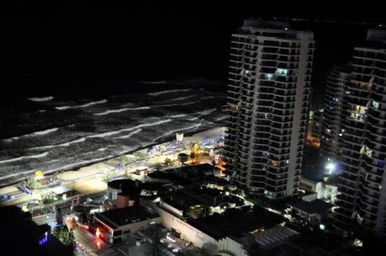 Hilton Surfers Paradise Hotel:                   Night view from our balcony.