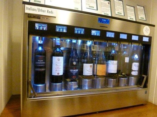 The Sampler:                                                       Close-up of a wine sampler cabinet