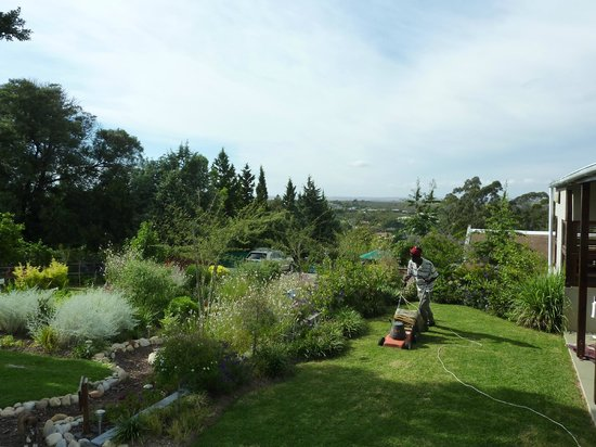 A Hilltop Country Retreat: Mxolisi getting the garden ready.