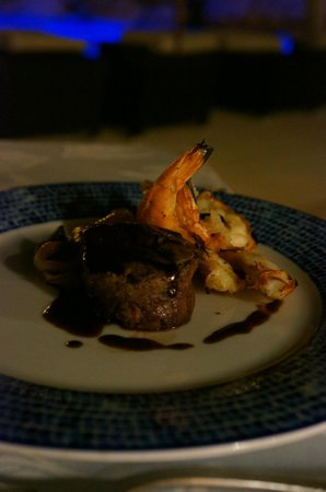 Secrets Maroma Beach Riviera Cancun:                                     Food at Oceana, Surf and Turf