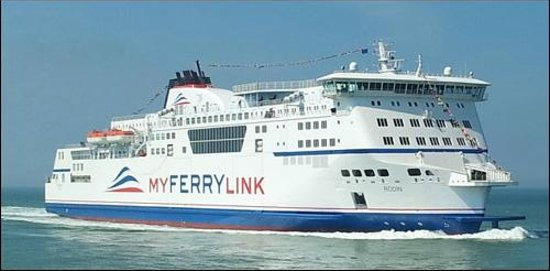 MyFerryLink Calais - Dover :                   Crossing the Channel