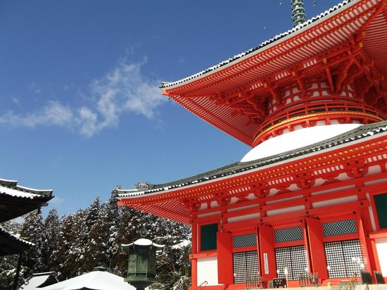 Koya-cho, Japón:                   Kouyasan in winter