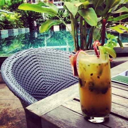 The Plantation Urban Resort and Spa:                   passion fruit mojito-yum!