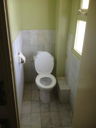 Hotel Ngor:                   toilet on upper level