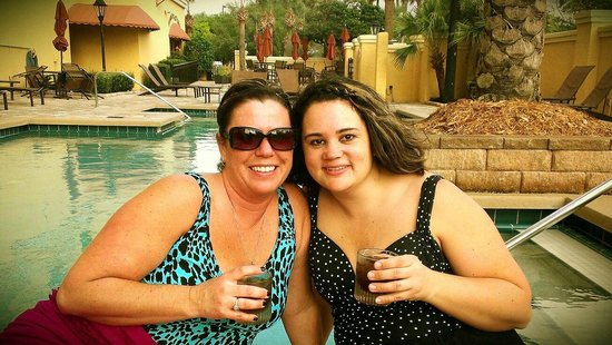 Embassy Suites by Hilton Orlando - International Drive / Convention Center:                                                       Best friends on a trip, enjoying the pool