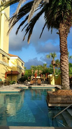 Embassy Suites by Hilton Orlando - International Drive / Convention Center :                                                       Well kept, beautiful pool area with music