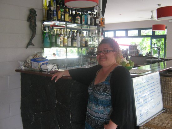 Amanaki Hotel:                                     Me at the Bar the morning we were leaving