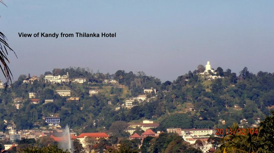 Hotel Thilanka:                   View from the pool area
